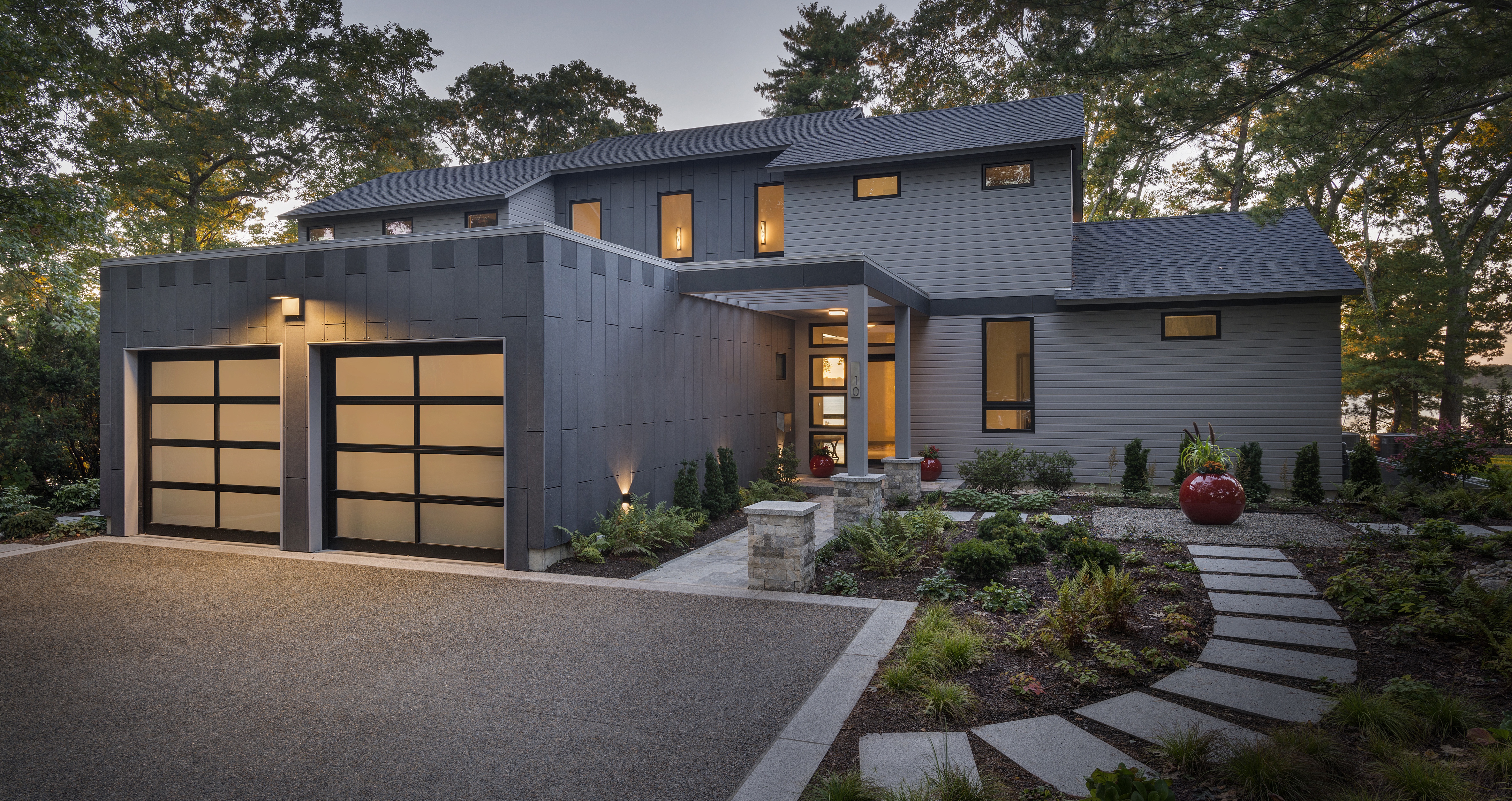 Kite_1532_Hundred Acre Cove_Greenspan Residence_Exterior_Night_Front