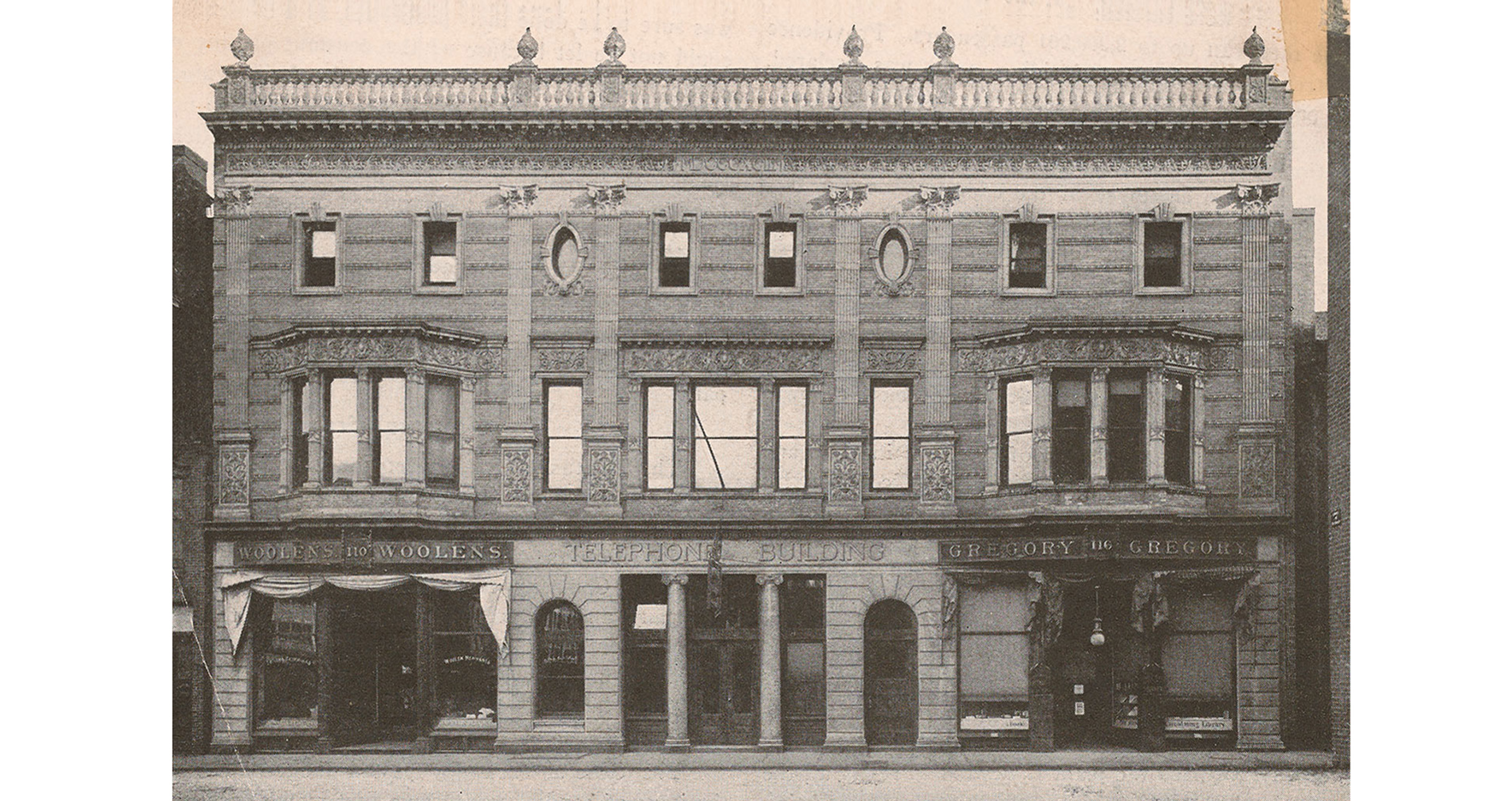 historic photo the telephone building providence