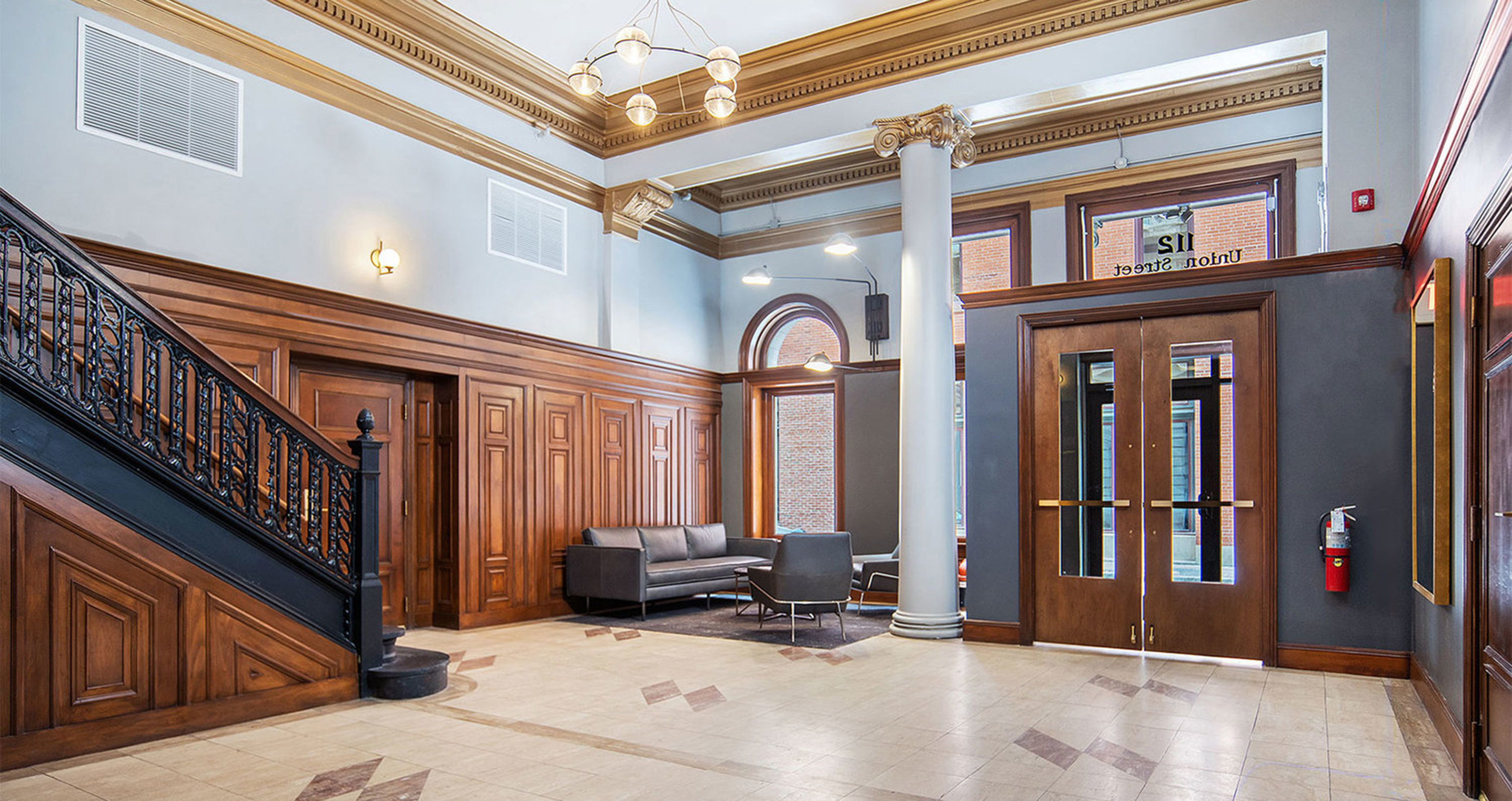 the telephone building lobby